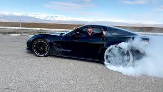 პროექტი - Corvette ZR1 - დაე დაიწვას ყველა საბურავი!