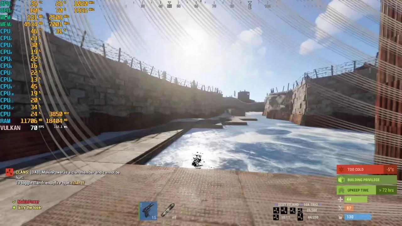 how to launch rust in vulkan mode