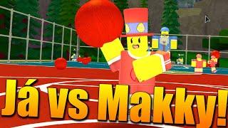 VENDALI T-M VS MAKKY T-M!😱🔥 Roblox Dodgeball w/Makousek