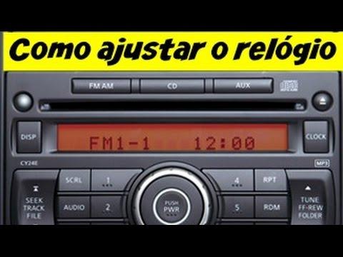 Como acertar ajustar a hora do radio Nissan Tiida Livina ...