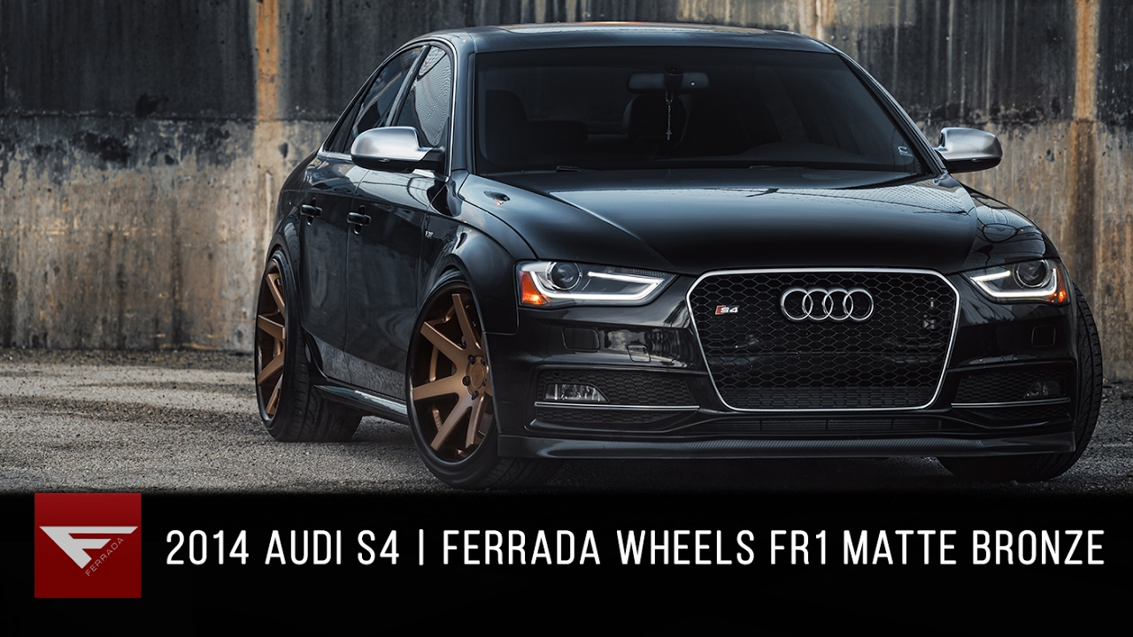 2014 Audi S4 Ferrada Fr1 Matte Bronze With Gloss Black