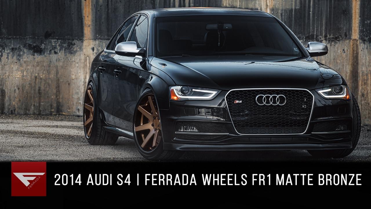 2014 Audi S4 Ferrada Fr1 Matte Bronze With Gloss Black