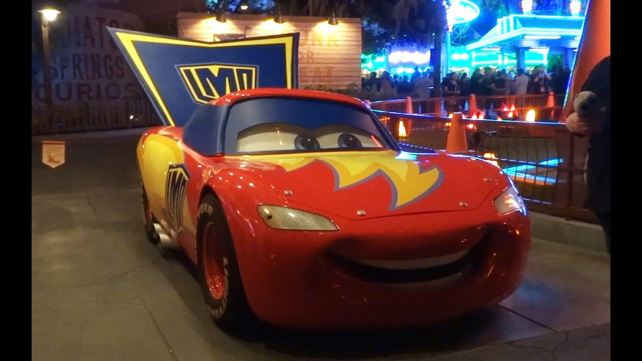 lightning mcqueen and tow mater cars costumes during halloween time 2017 at disneyland resort