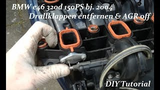 ►BMW Drallklappen entfernen | AGR stilllegen | e46 320d 150PS | DIY Tutorial
