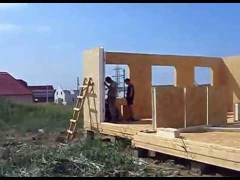 видео: Строительство Каркасного Дома из сип панелей 8×9м