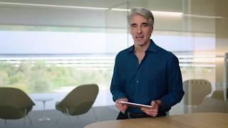 Craig Federighi Demos New iPad Pro and Magic Keyboard