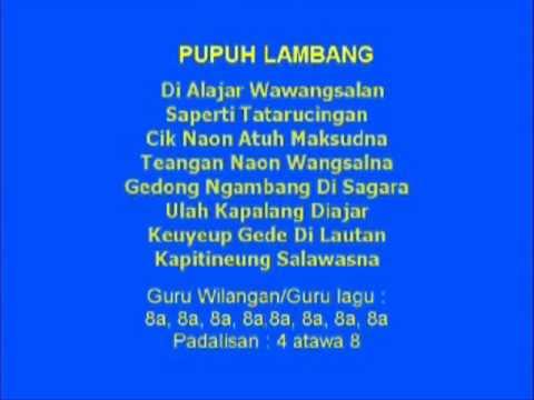 Lagu Sunda dengan Lirik | PUPUH LAMBANG