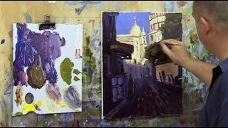 Learn To Paint TV E65 &quotMontemarte, Paris&quot Acrylic Painting Beginners Paris Street ...