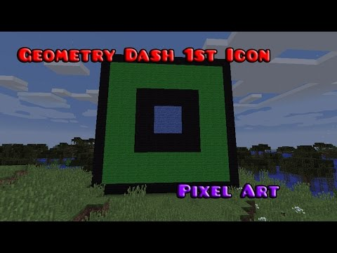 Geometry Dash 1st Icon Pixel Art - Minecraft Pixel Art - Episode 3