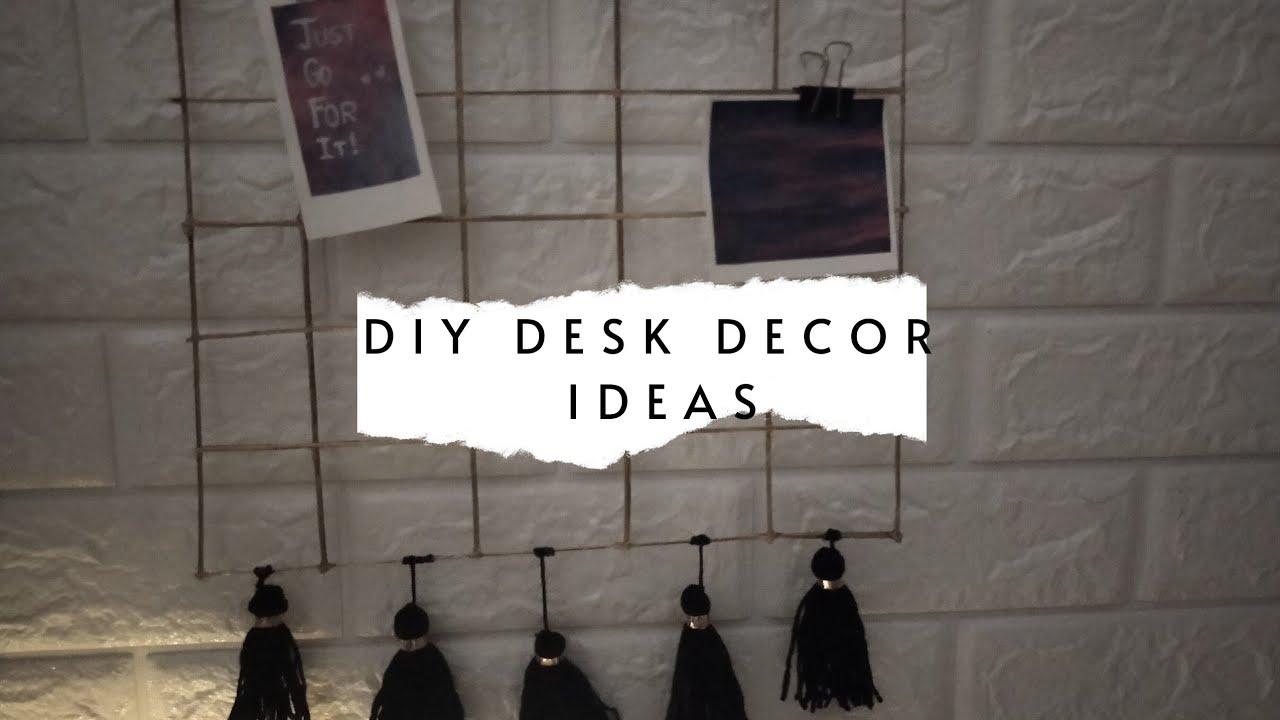 Aesthetic and cool desk decor/organisation ideas|DIY GRID ...