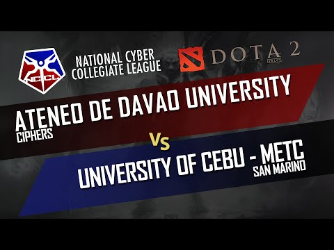 DOTA 2: Ateneo de Davao University vs University of Cebu (NCCl Viz-Min) Group Stage - DUNOO