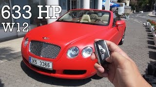 Luxury Supercar!? - Bentley Continental 6.0 GT W12 Convertible Review Test Drive Acceleration