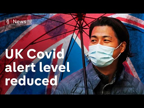 UK virus alert level downgraded from 4 to 3 - permitting 'gradual relaxation of restrictions'