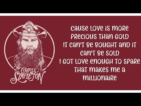 Chris Stapleton - Millionaire (Lyrics/Letra Video) 4K