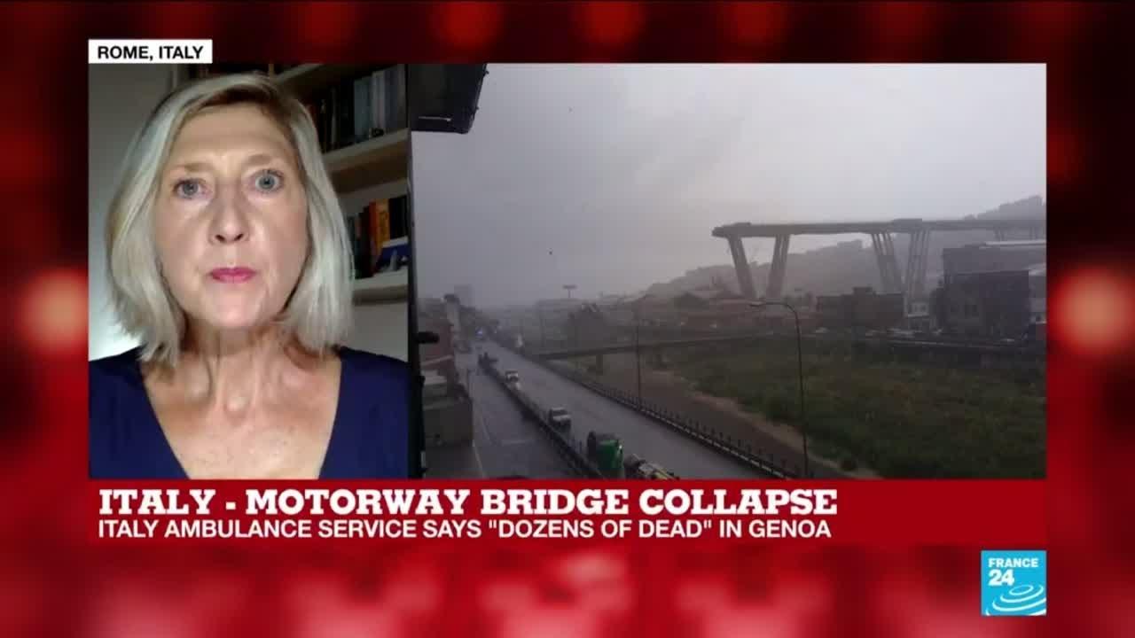 فرانس 24:Motorway bridge collapse in Italy leaves