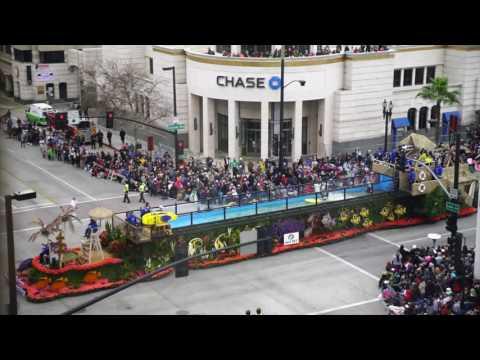 Pasadena Rose Parade 2017 from Lake Ave (Timelapse)