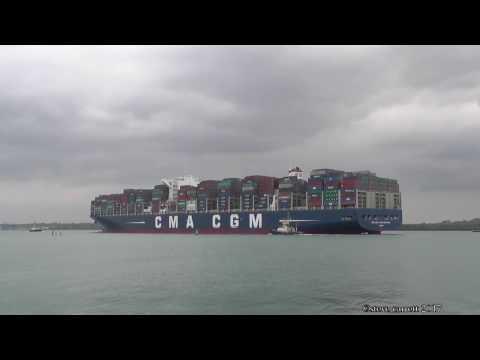 CMA CGM Vasco De Gama departure DPWorld Southampton 3/5/17