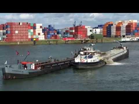 Work Boats in Rotterdam Harbor