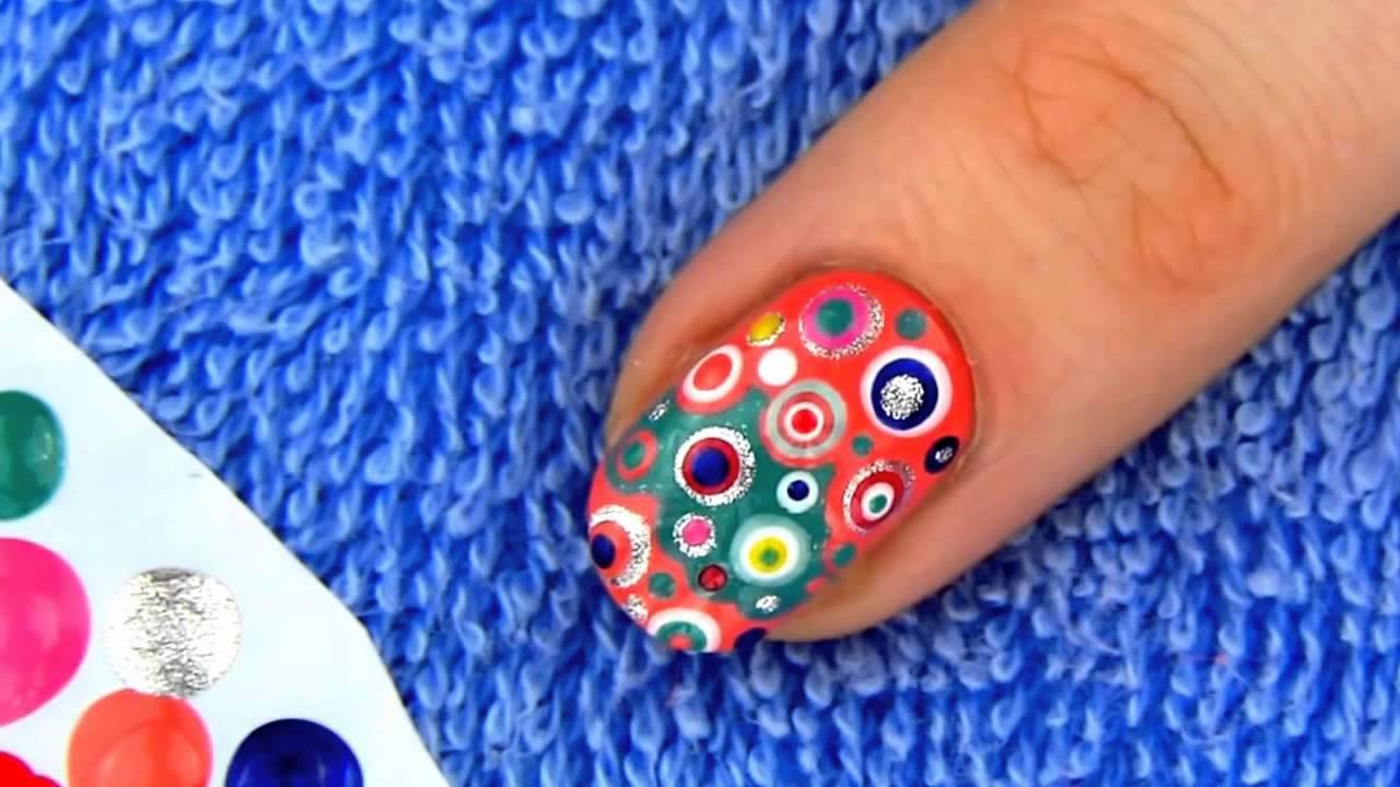 Einfaches Nageldesign für Anfänger und kurze Nägel | Nageldesign für ...