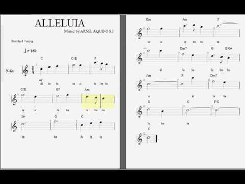 Alleluia With Chords Lyrics And Melody Youtube