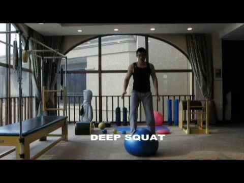 Louis Lin: Swiss Ball Standing for Golf Training