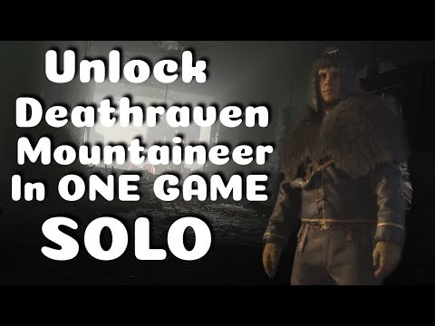 Unlock Deathraven Mountaineer in ONE GAME SOLO