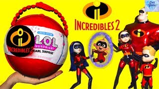 The Incredibles 2 LOL Pearl Surprise! Toys Dolls Fun Kids Playing The Incredibles 2 LOL Big Surprise