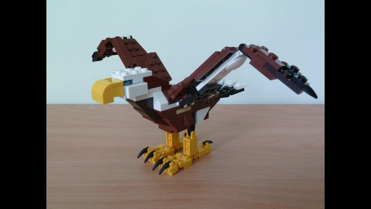 Lego 31004 Lego Creator 3 In 1 Fierce Flyer Eagle 13 Youtube