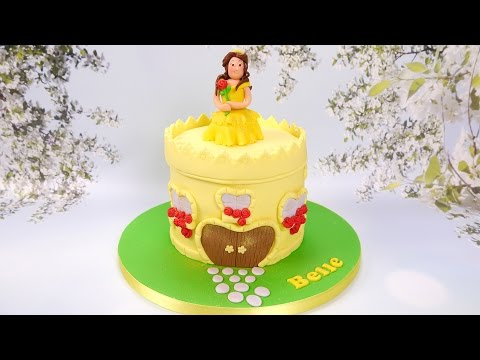 how-to-make-a-princess-belle-and-castle-cake