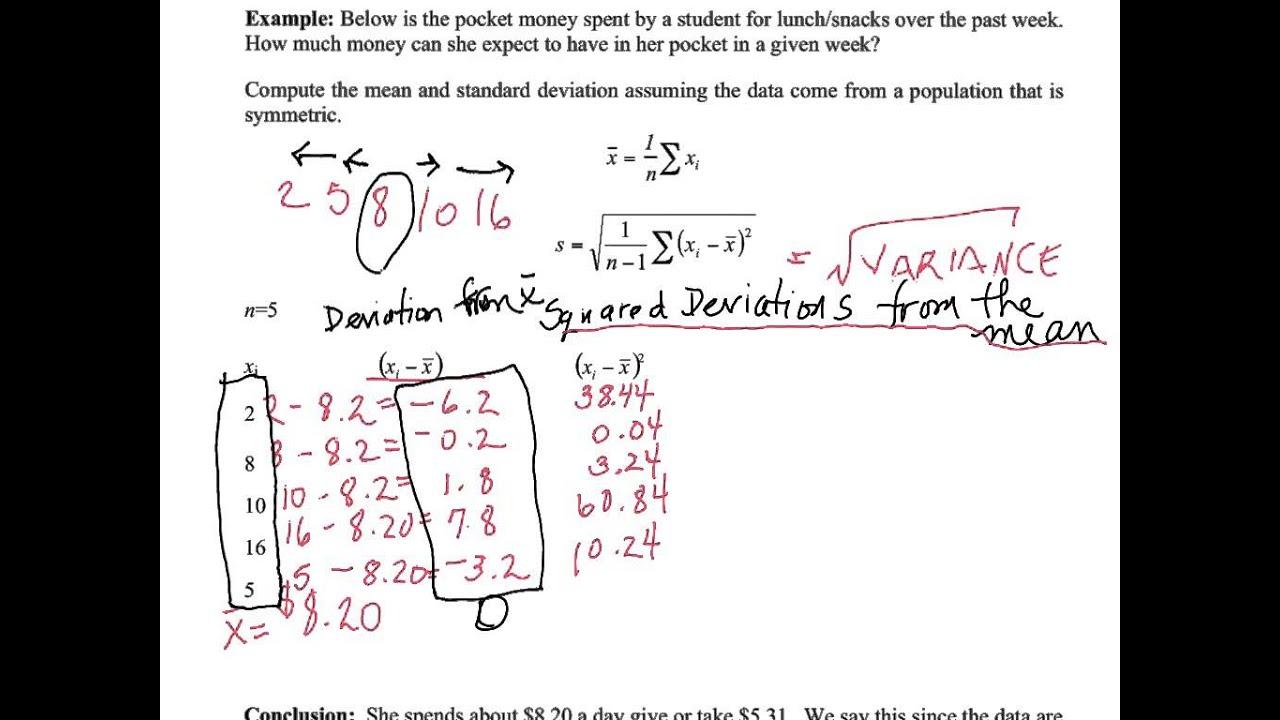 Unit 2 Gds Pg 10 Standard Deviation: Tabular Method & Stat Mode