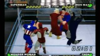 Repeat youtube video The Justice League vs. The Avengers (rematch)