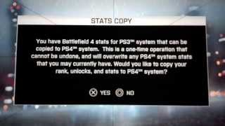 A1R5N1P3R Battlefield 4 ps3 to ps4 stats transfer
