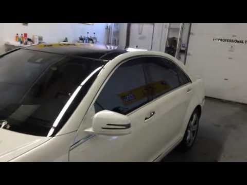 2013 mercedes benz s350 suntek window tint carbon series for Mercedes benz window tint