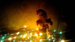 Кукла Дед Мороз с гитарой музыкальный