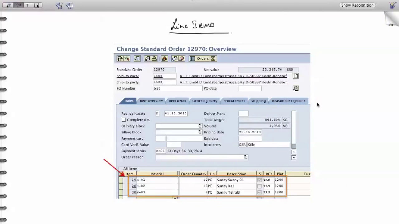 sap sd structure of sales document sales order management tutorials [ 1280 x 720 Pixel ]
