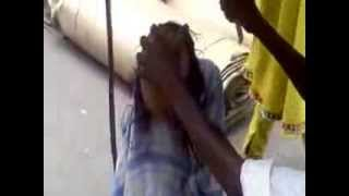 Young Indian girl Head shave video