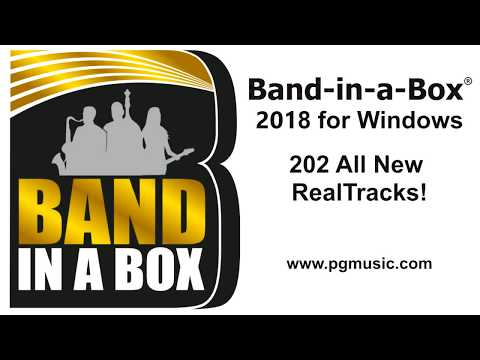 Band-in-a-Box® 2018 for Windows - 202 New RealTracks Overview