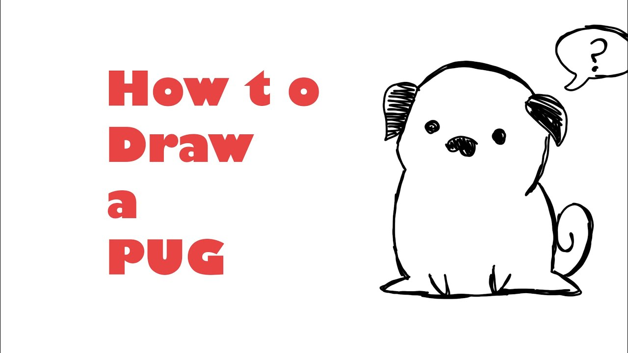how to draw a cartoon pug how to draw a pug funnydog tv 4191