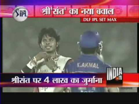 Sreesanth Fined For Clapping At The Umpire Decision - India TV