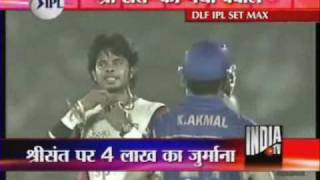 Download lagu Sreesanth Fined For Clapping At The Umpire Decision India TV MP3
