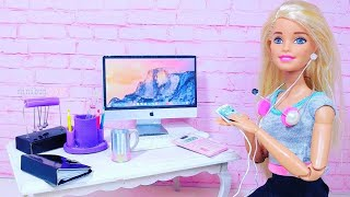 10 DIY Miniature Gadgets and Office Supplies for Barbie / Clever Barbie Hacks and Crafts