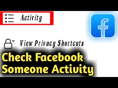 How To Check Someone Facebook Activity
