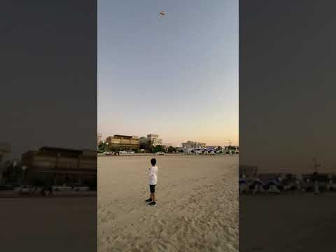 Kite flying kite beach Dubai 2020