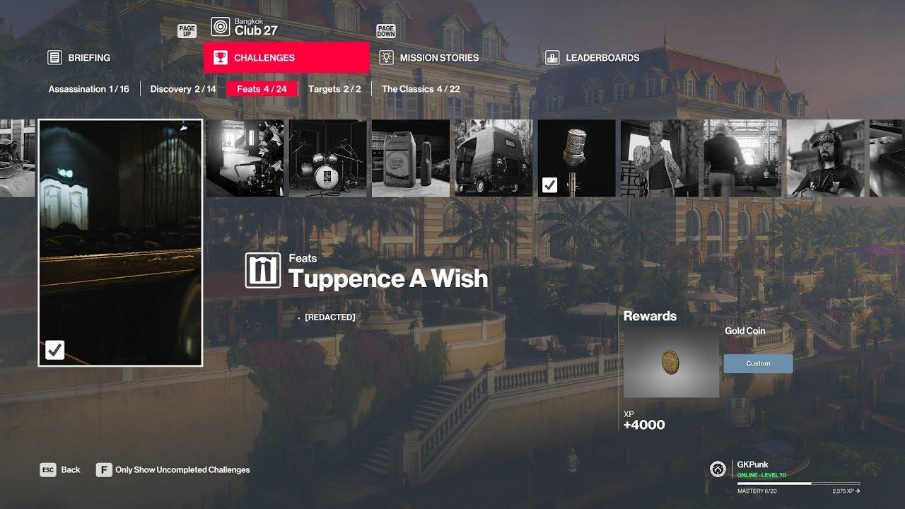 Hitman 2 Legacy Bangkok Feat Tuppence A Wish How To Unlock