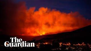Timelapse footage shows huge fire at Saddleworth Moor