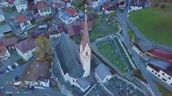 Nauders (Tyrol, Austria) bird's eye view 4K, Наудерс (Тироль, Австрия) с высоты птичьего полёта 4К