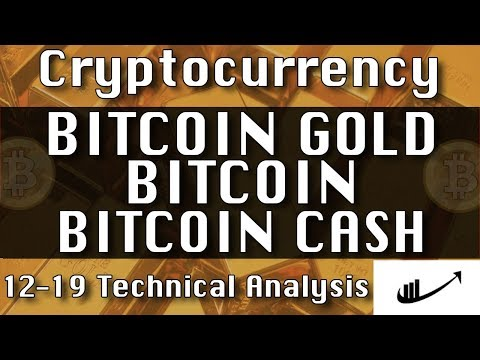 12-19 BITCOIN GOLD : BITCOIN : BITCOIN CASH Update CryptoCurrency Technical Analysis Chart