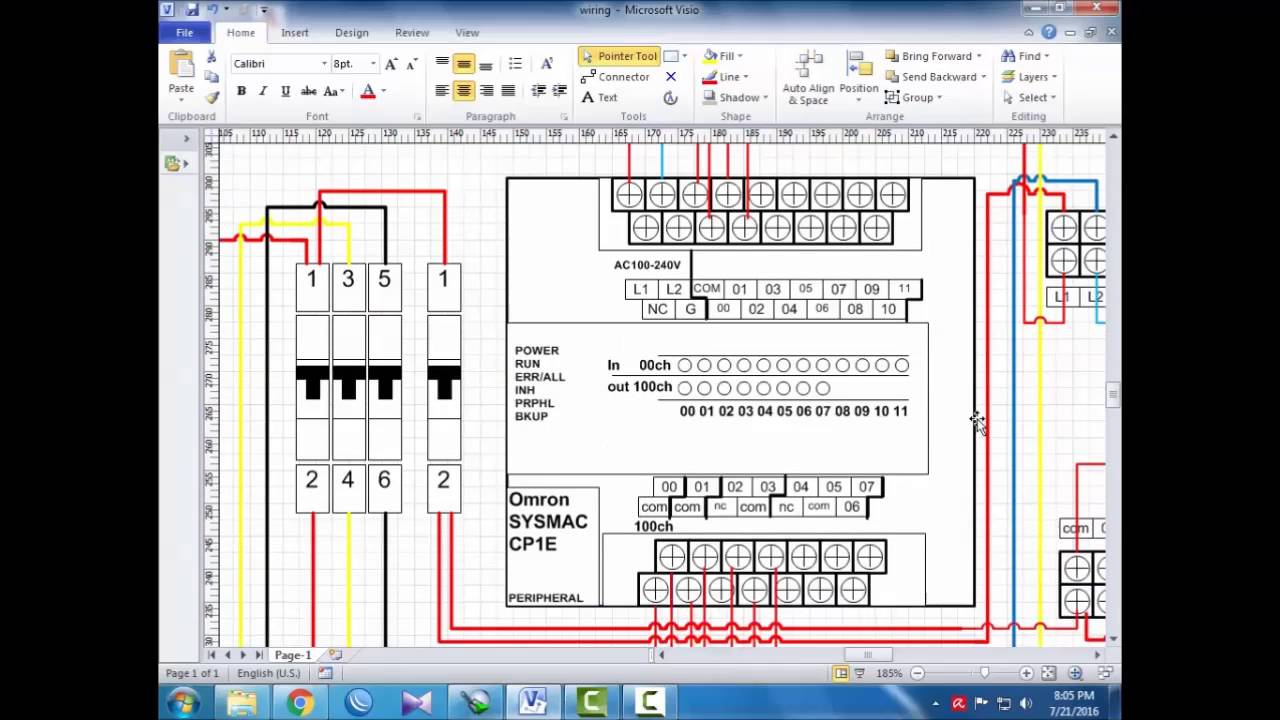 tutorial wiring PLC Omron CP1E E20 (bahasa indonesia) Eps