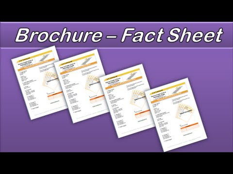 Microsoft Word Create a Brochure or Factsheet AOTrainingnet - YouTube - how to make a sign in sheet using word