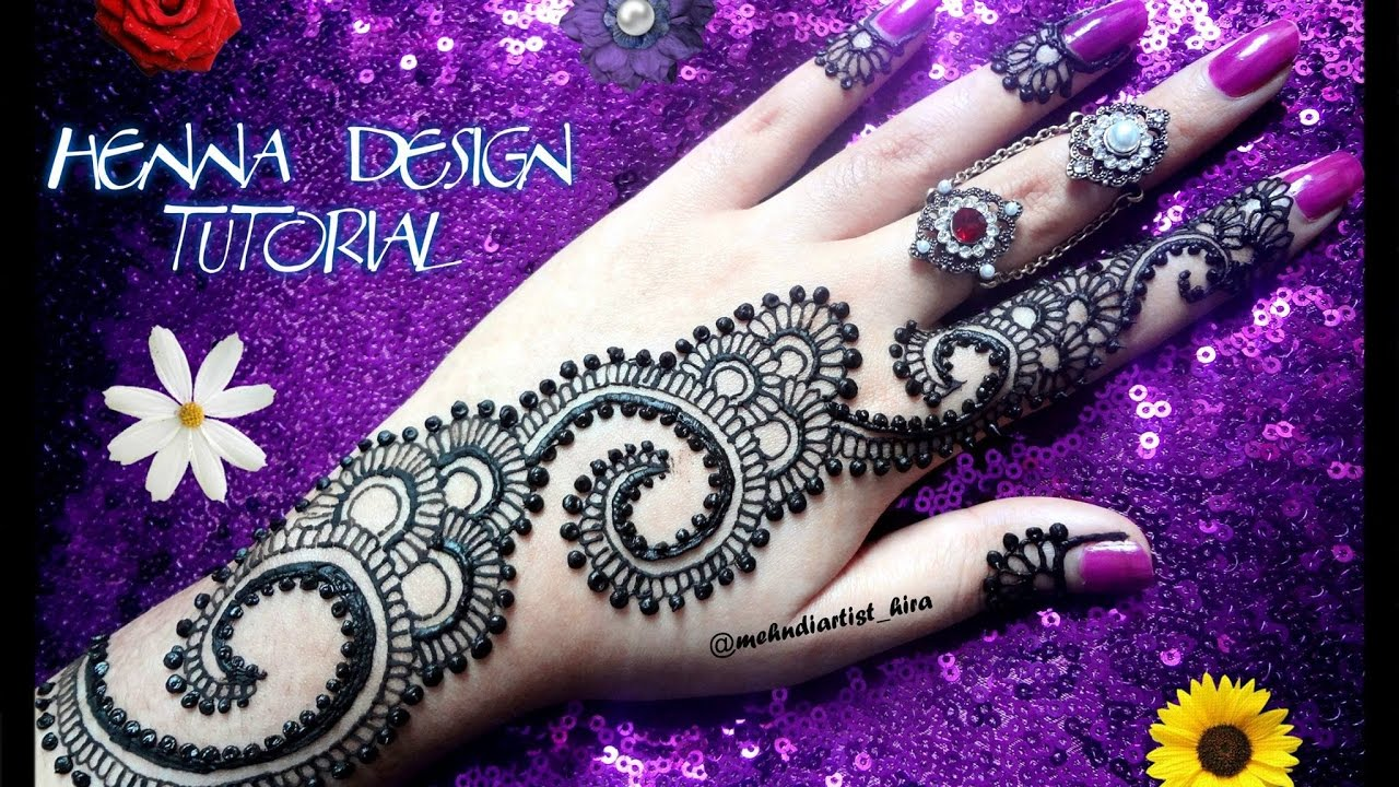Apply Mehndi Hands : Diy henna design how to apply easy simple strip mehndi